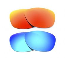 NEW POLARIZED FIRE RED/ICE BLUE CUSTOM LENS FOR OAKLEY FROGSKINS SUNGLASSES